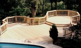 Treated deck with octagon