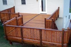 Uniquely Shaped Deck in Sharpsburg Maryland