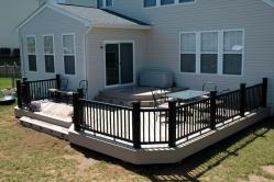 Azek Brownstone PVC Deck in Keedysville Maryland