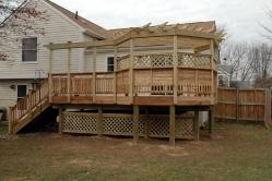 Deck with Many Features in Walkersville Maryland