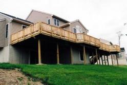 Large upper level treated deck